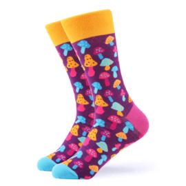 Vrolijke Sokken Paddestoel Maat 41-46