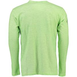 Longsleeve Shirt Geographical Norway Josstone Heren Light Green