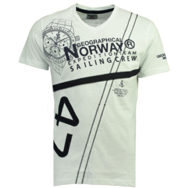 T-shirt Geographical Norway Jilly Heren White met gratis 3-pack boxershorts