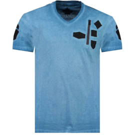 T-shirt Canadian Peak Jagger Heren Bleu