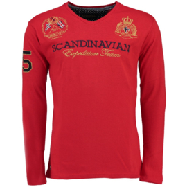 Longsleeve Shirt Geographical Norway Jevin Heren Red