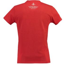 T-shirt Geographical Norway Jandinsky Heren Red met gratis 3-pack boxershorts