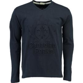 Longsleeve Shirt Canadian Peak Journa Heren Navy