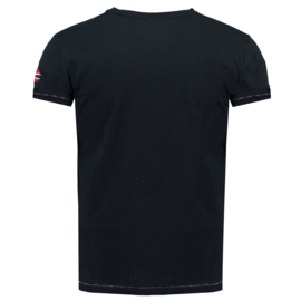 T-shirt Geographical Norway Jpepe Heren Black