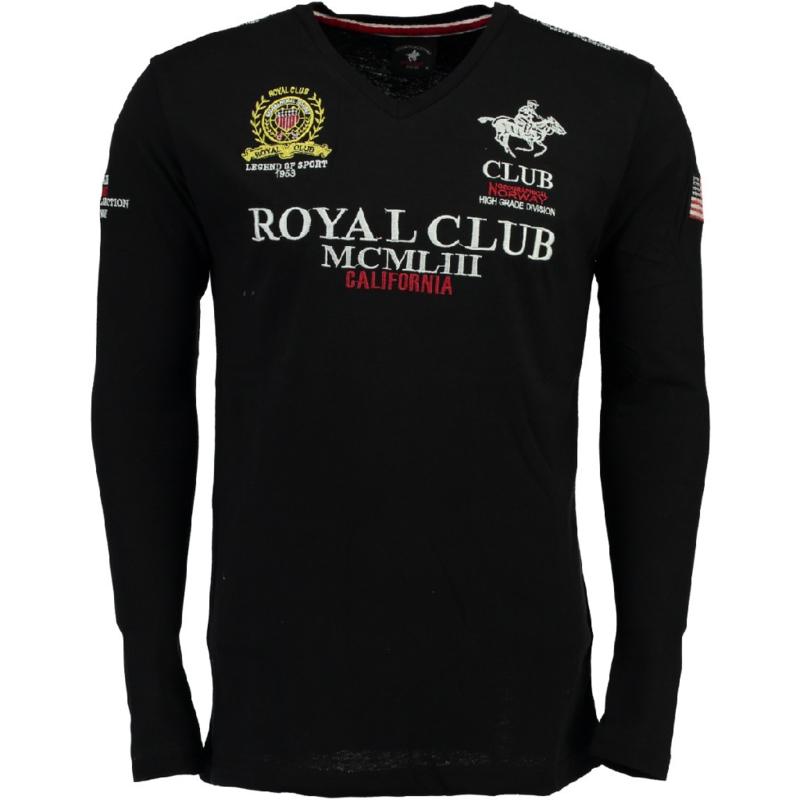 Longsleeve Shirt Geographical Norway Jisac Heren Black