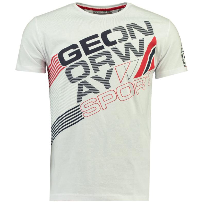 T-shirt Geographical Norway Jorsports Heren White met gratis 3-pack boxershorts