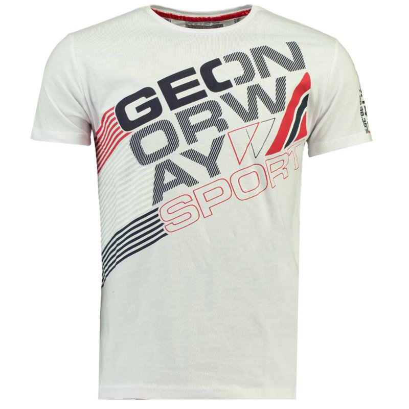 T-shirt Geographical Norway Jorsports Heren White