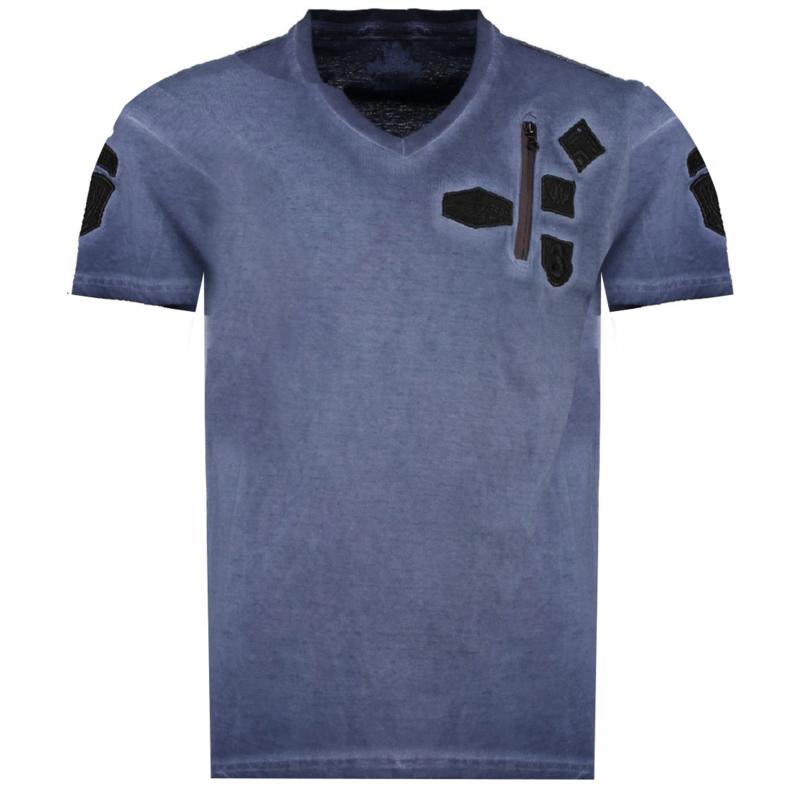 T-shirt Canadian Peak Jagger Heren Marine (alleen nog in maat S)