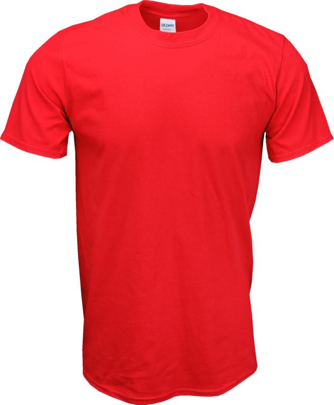 T-shirt Gildan Ronde Hals Rood