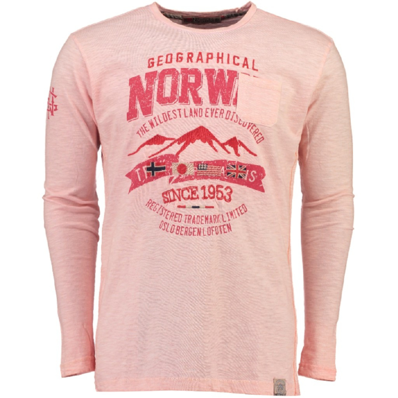 Longsleeve Shirt Geographical Norway Josstone Heren Coral