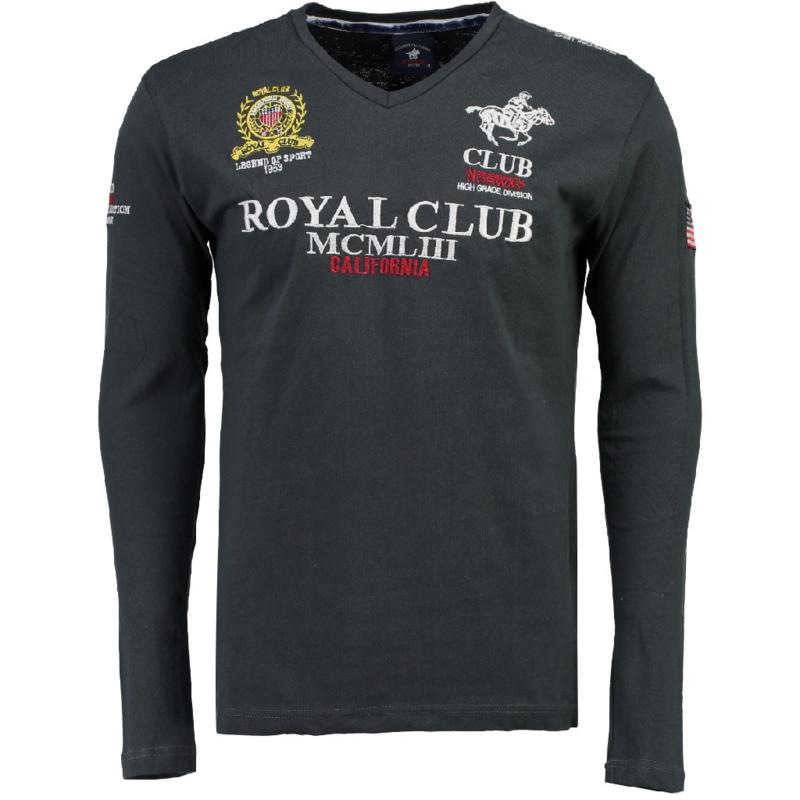 Longsleeve Shirt Geographical Norway Jisac Heren Dark Grey