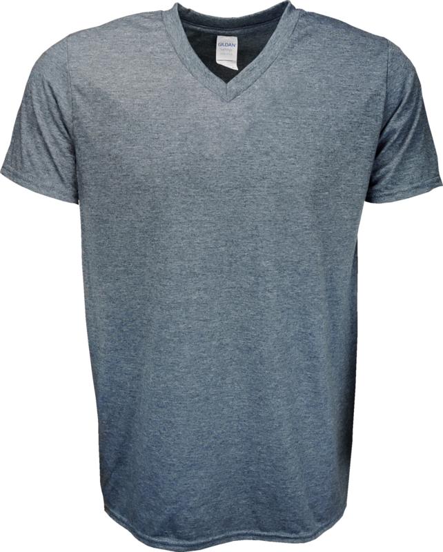 T-shirt Gildan V-Hals Grijs