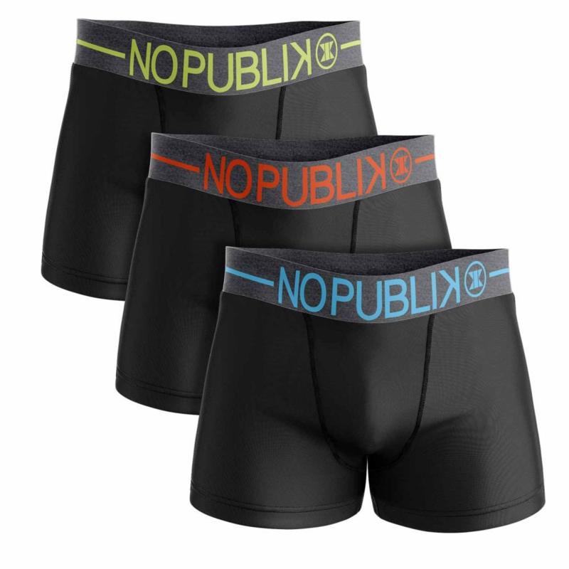 3-Pack No Publik Boxershorts (alleen nog in de maat S en XL)