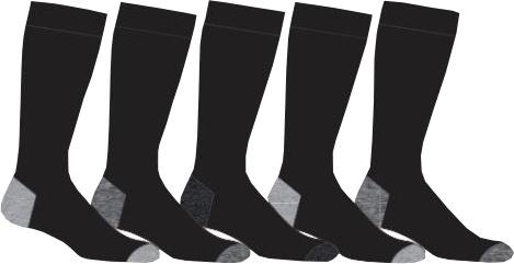 5-Pack Twinday Sokken Met Gekleurde Hak