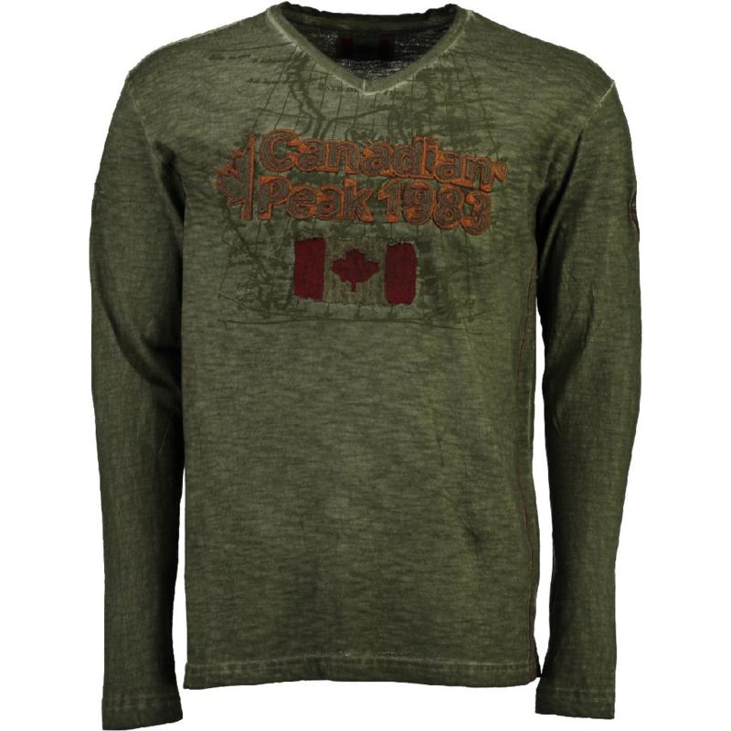 Longsleeve Shirt Canadian Peak Jawn Heren Kaki