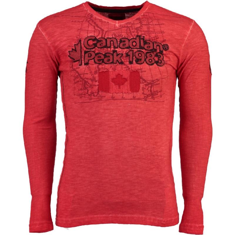 Longsleeve Shirt Canadian Peak Jawn Heren Red (alleen nog in maat S)