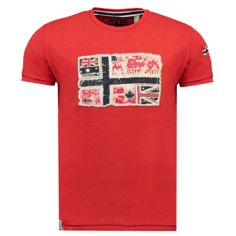 T-shirt Geographical Norway Jpepe Heren Red