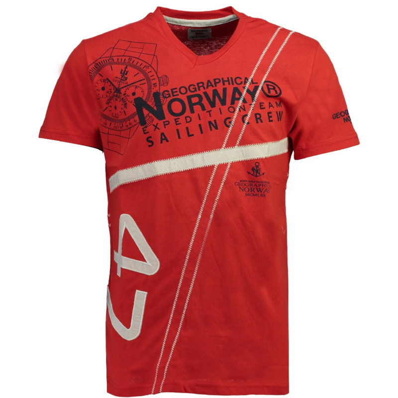 T-shirt Geographical Norway Jilly Heren Red