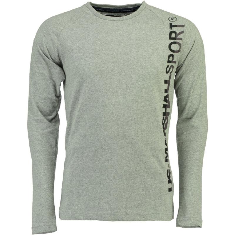 Longsleeve Shirt US Marshall Jupershall Heren Blended Grey