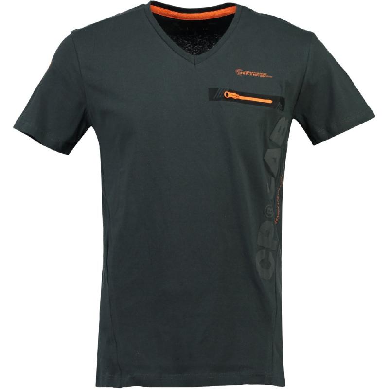 T-shirt Canadian Peak Japano Heren Gris Fonce Orange