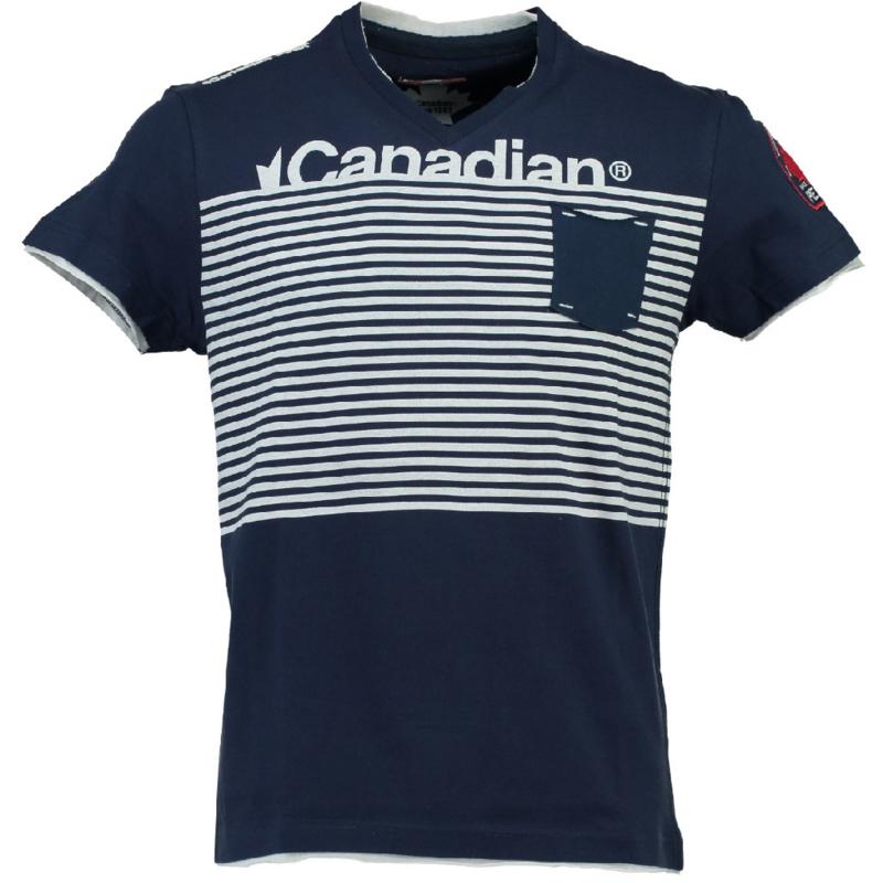 T-shirt Canadian Peak Jerem Heren Navy-White
