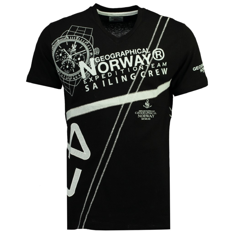 T-shirt Geographical Norway Jilly Heren Black