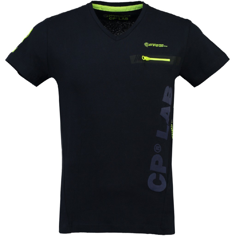 T-shirt Canadian Peak Japano Heren Marine Yellow