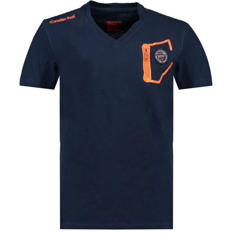 T-shirt Canadian Peak Jingo Heren Jingo Marine Orange Fluo
