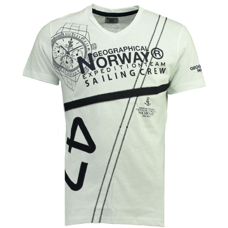 T-shirt Geographical Norway Jilly Heren White