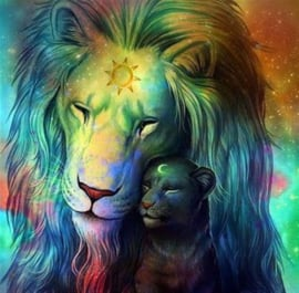 Dier zonne leeuw 30 x 40 cm full