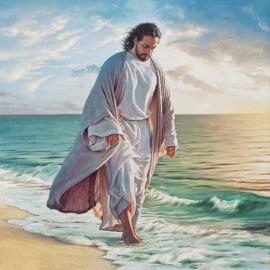 Religie Lopend lang het water 40 x40 cm