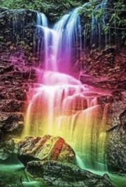 Natuur waterval   30 x 40 cm full en rond