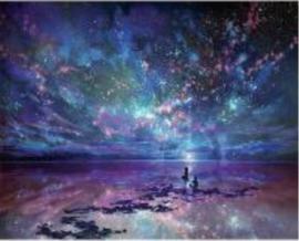 Fantasie Kijken naar het kleurrijke universum 20x25 cm Full
