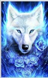 Dier Witte Wolf  20x30 cm Full
