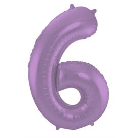 Cijfer Mat Paars- 6