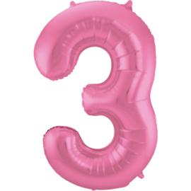 Cijfer Mat Pink- 3