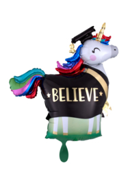 Folieballon- Believe unicorn