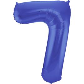 Cijfer Mat Blauw- 7