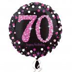 Sparkling zwart pink 70