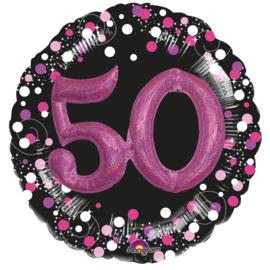 Sparkling 3D Zwart roze 50
