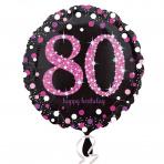 Sparkling zwart pink 80