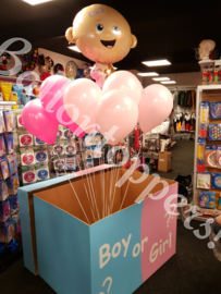 Gender Reveal- BOX XXL Boy or Girl met folie