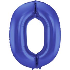 Cijfer Mat Blauw- 0