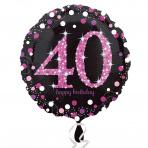 Sparkling zwart pink 40