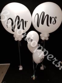 Giant Balloon-  set van  Mr en Mrs