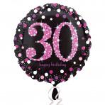 Sparkling zwart pink 30