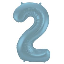 Cijfer Pastel Blauw- 2