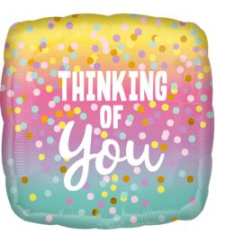 Folieballon- Thinking of you