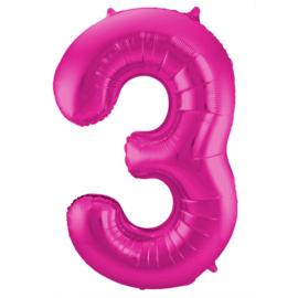 Cijfer Roze- 3