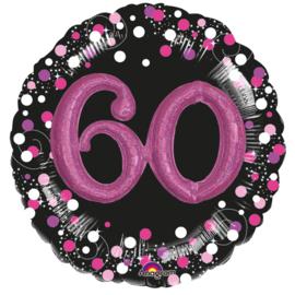 Sparkling 3D Zwart roze 60
